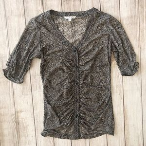 CAbi Sheer Blouse Size Small